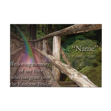 Rainbow Bridge Template Custom Rainbow Bridge Memorial Magnet Template by Nfsaflyers