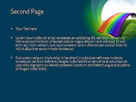 Rainbow Bridge Template Rainbow Bridge Free Presentation Template for Google
