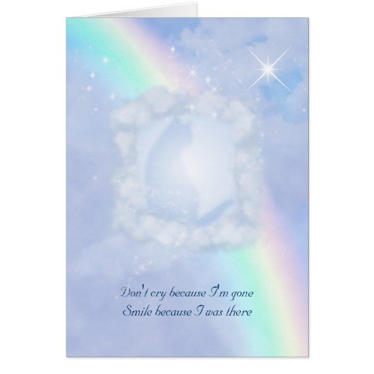 Rainbow Bridge Template Rainbow Bridge Pet Loss Customizable Card