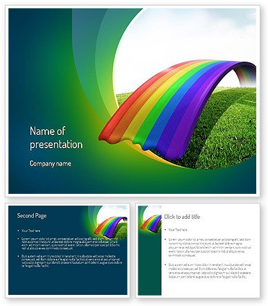 Rainbow Bridge Template Rainbow Bridge Powerpoint Template Poweredtemplate