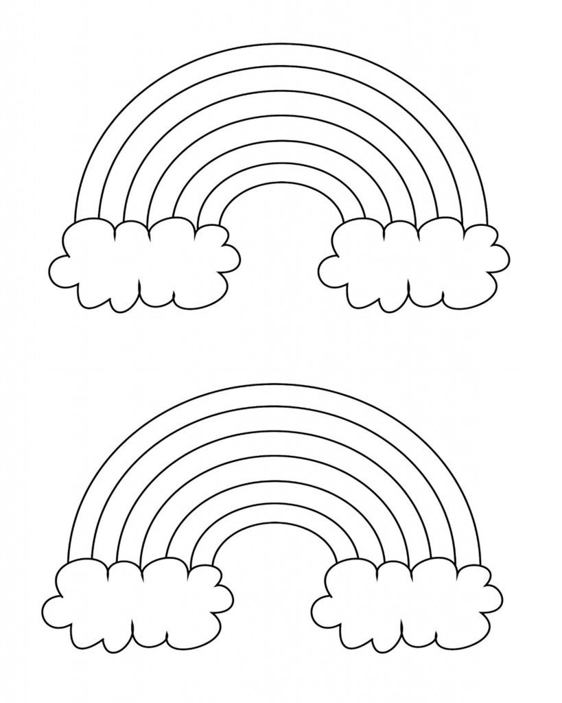 Rainbow Pictures to Print Free Printable Rainbow Coloring Pages What Mommy Does