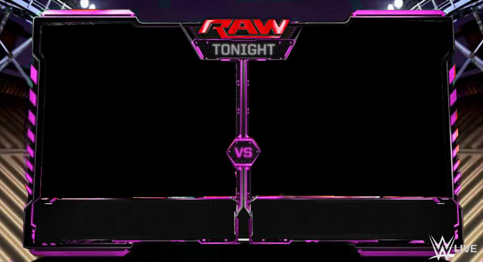 Raw Match Card Template Renders Backgrounds Logos Wwe Divas Raw Matchcard