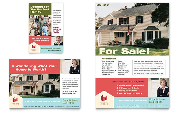 Real Estate Ad Templates Home Real Estate Flyer & Ad Template Word & Publisher