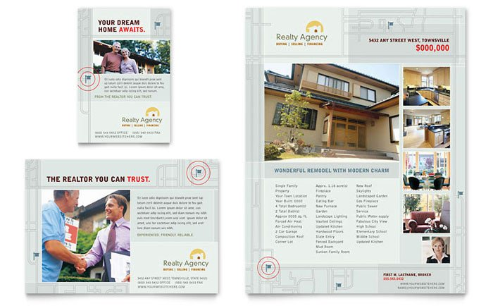 Real Estate Ad Templates Real Estate Agent & Realtor Flyer & Ad Template Design