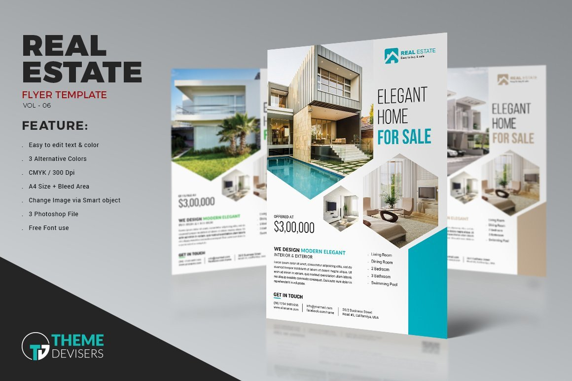 Real Estate Ad Templates Real Estate Business Flyer Template Flyer Templates