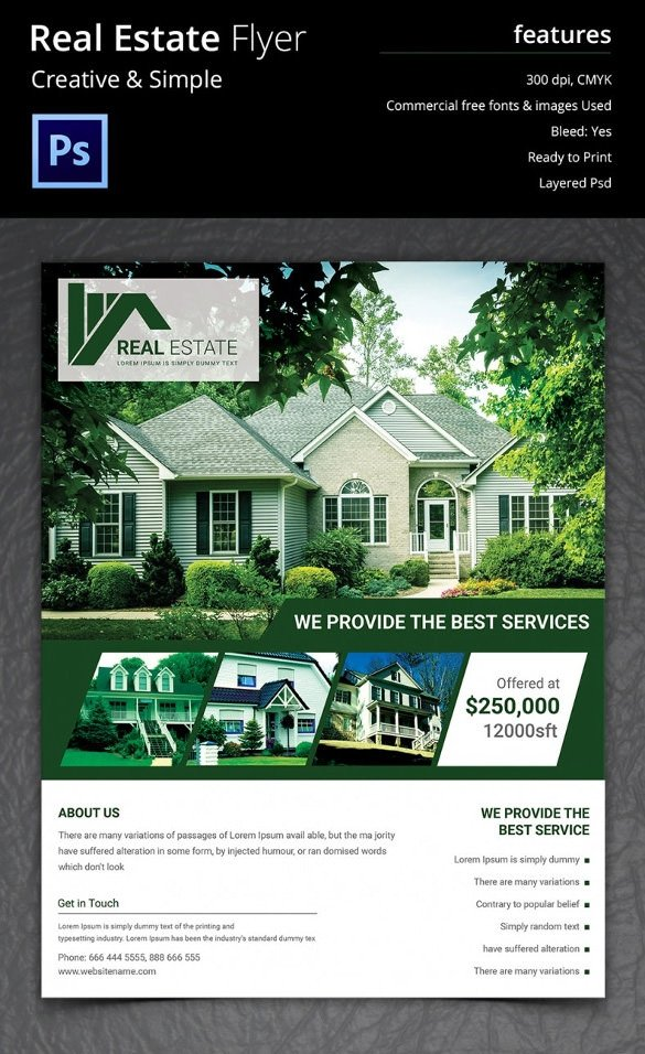 Real Estate Ad Templates Real Estate Flyer Template 37 Free Psd Ai Vector Eps