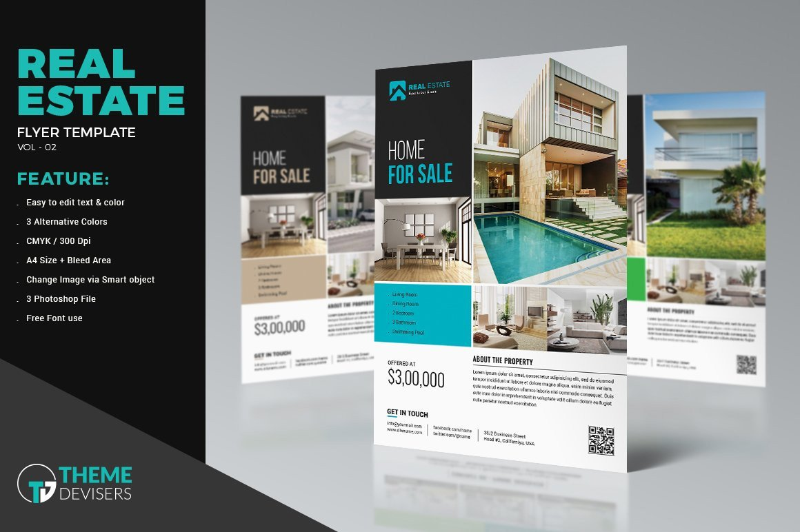 Real Estate Ad Templates Real Estate Flyer Template Flyer Templates Creative Market