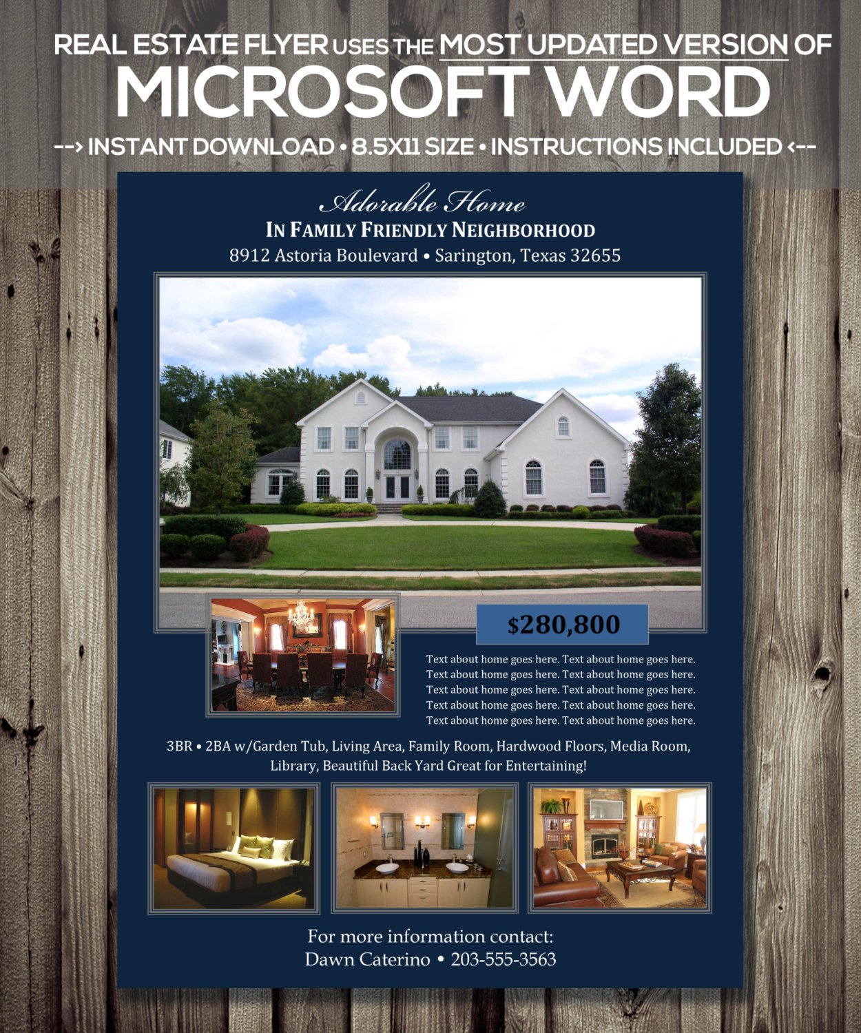 Real Estate Ad Templates Real Estate Flyer Template Microsoft Word Cx Version