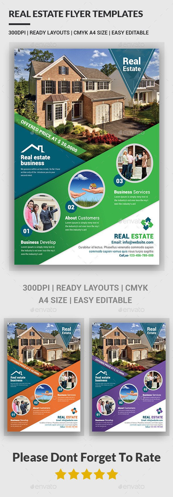 Real Estate Ad Templates Real Estate Flyer Templates by Afjamaal