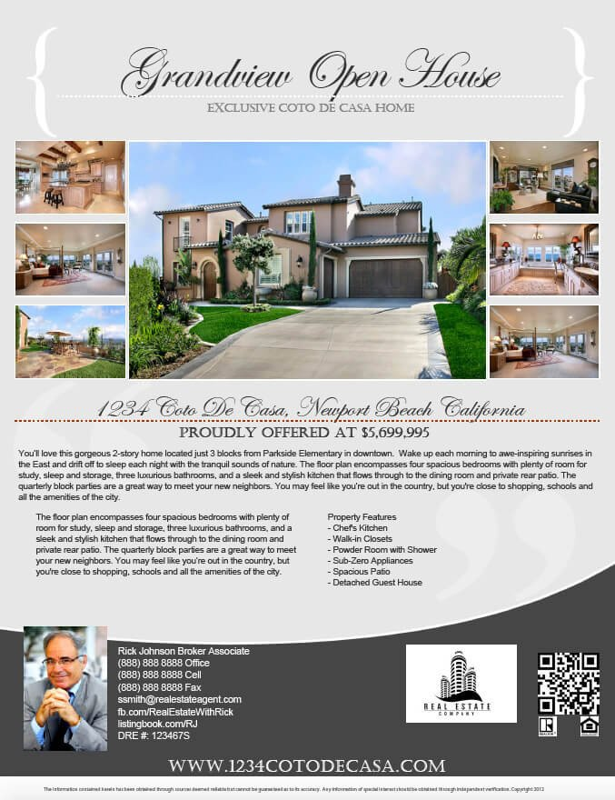 Real Estate Ad Templates Real Estate Flyers Pdf Templates Turnkey Flyers