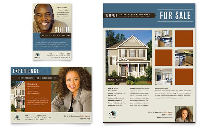 Real Estate Ad Templates Residential Realtor Flyer & Ad Template Design