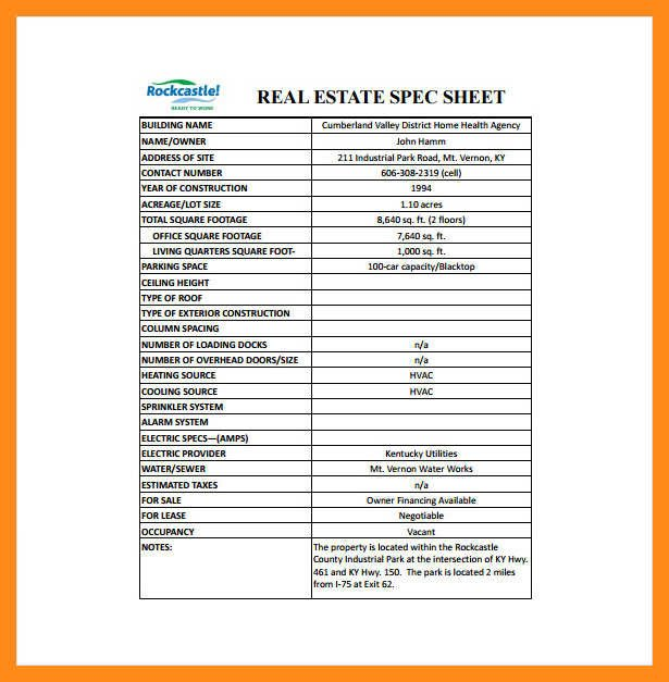 Real Estate Fact Sheet Template 10 11 Real Estate Fact Sheet Template