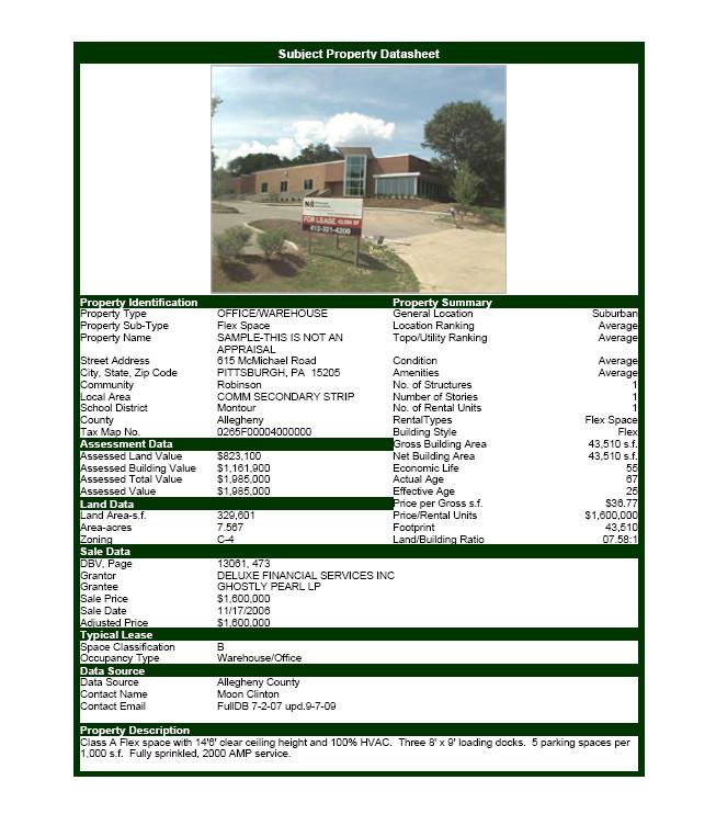 Real Estate Fact Sheet Template Mercial Real Estate software Property Datasheet