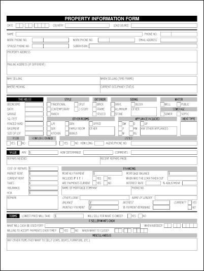 Real Estate Fact Sheet Template Property Information Sheet
