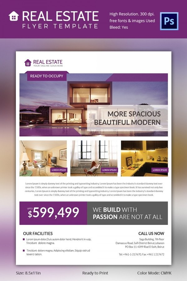 Real Estate Flyer Template Free Real Estate Flyer Template 37 Free Psd Ai Vector Eps
