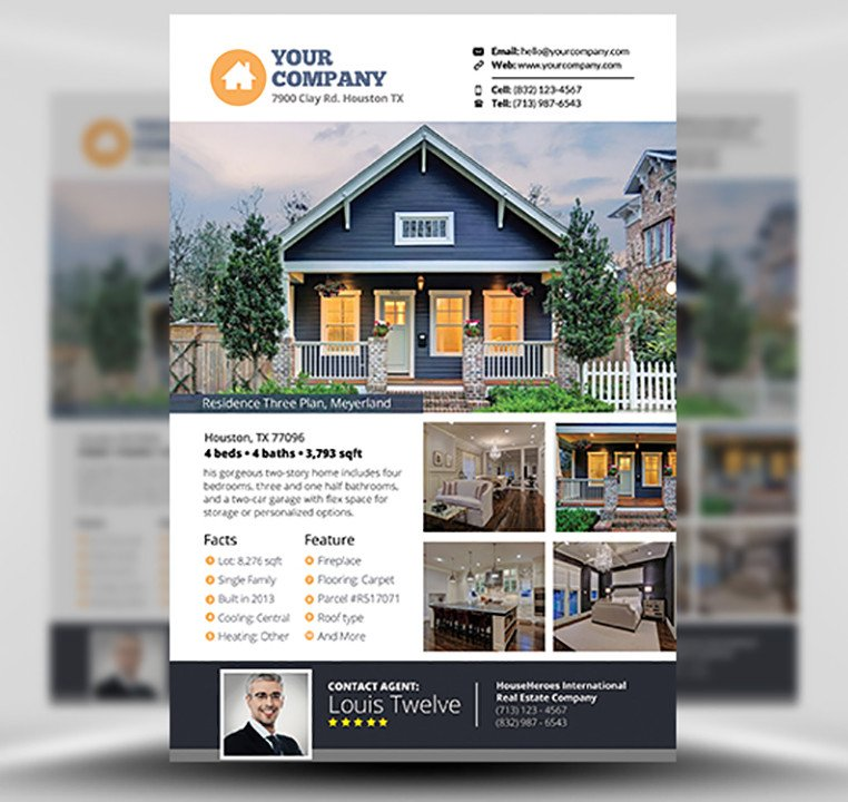 Real Estate Flyer Template Free Real Estate Flyer Template V3 Flyerheroes