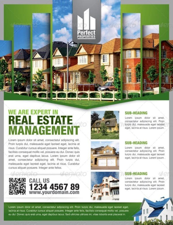 Real Estate Flyer Template Word 13 Real Estate Flyer Templates Excel Pdf formats