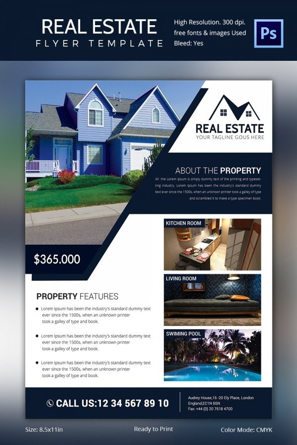 Real Estate Flyer Template Word Real Estate Flyer Template 37 Free Psd Ai Vector Eps