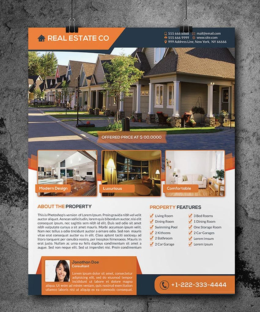Real Estate Flyer Templates 40 Professional Real Estate Flyer Templates