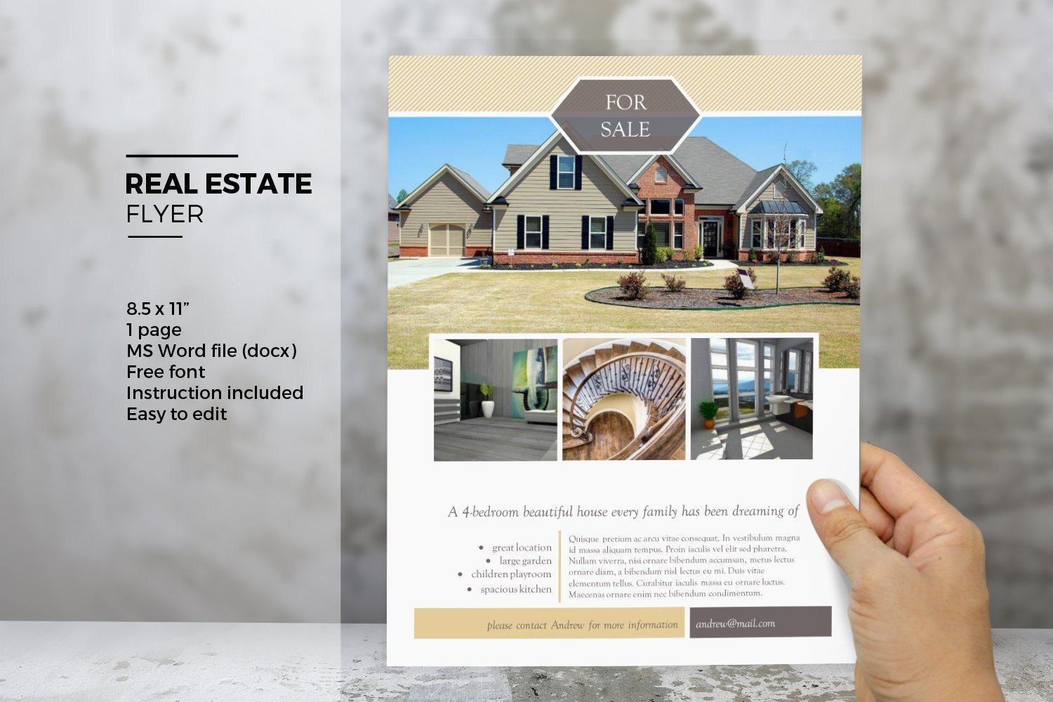 Real Estate Flyer Templates Ms Word Real Estate Flyer Template Flyer Templates