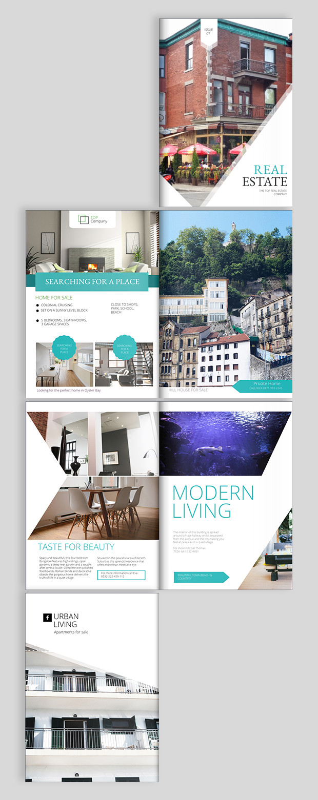 Real Estate Flyer Templates Real Estate Brochure Design Templates and Ideas