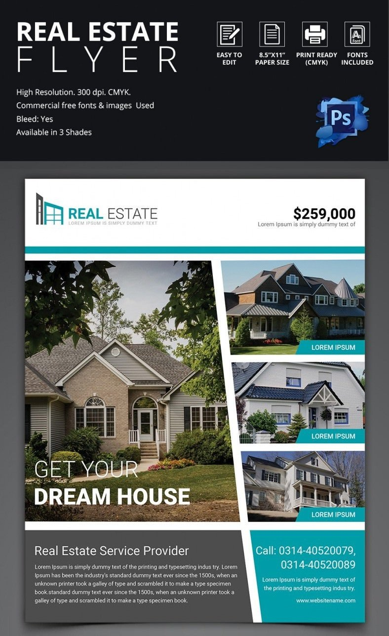Real Estate Flyer Templates Real Estate Flyer Template 37 Free Psd Ai Vector Eps