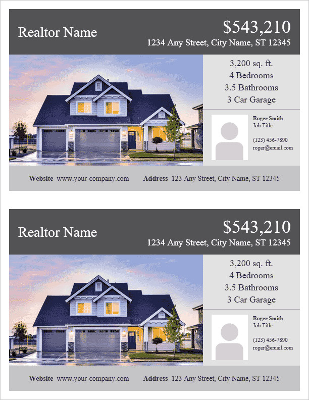 Real Estate Flyer Templates Real Estate Flyer Template for Word