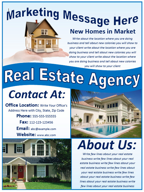 Real Estate Flyer Templates Real Estate Flyer Template Free Template Downloads