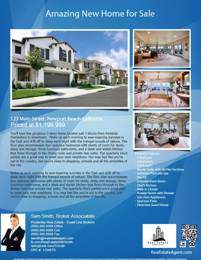 Real Estate Flyer Templates Real Estate Flyers Pdf Templates Turnkey Flyers