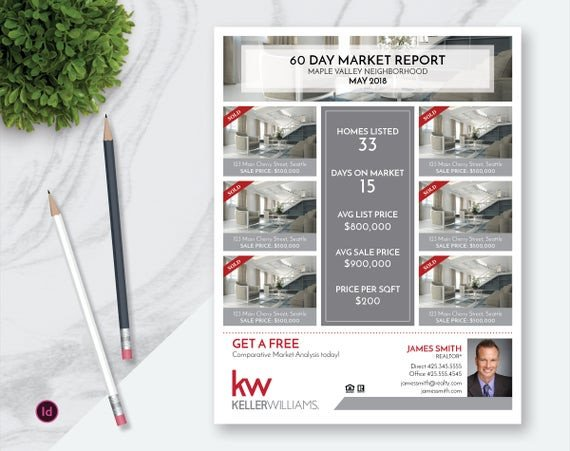 Real Estate Market Report Template Indesign Real Estate Market Update Flyer Template Real Estate