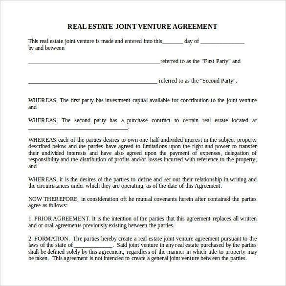 Real Estate Partnership Agreement Sample Real Estate Partnership Agreement 13 Free