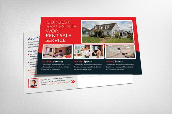 Real Estate Postcard Templates 20 Nice Real Estate Postcards Templates