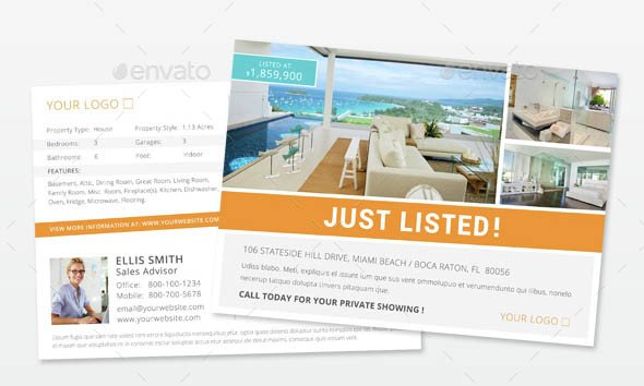 Real Estate Postcard Templates Indesign Flyer Templates top 50 Indd Flyers for 2018