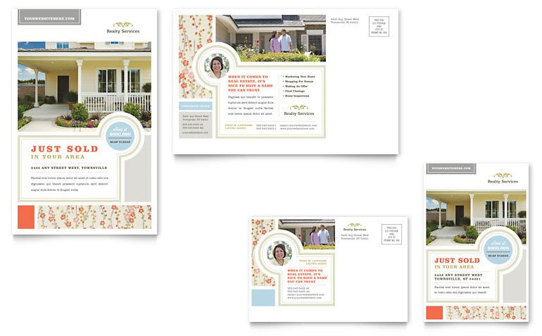 Real Estate Postcard Templates Real Estate Home for Sale Postcard Template Word & Publisher