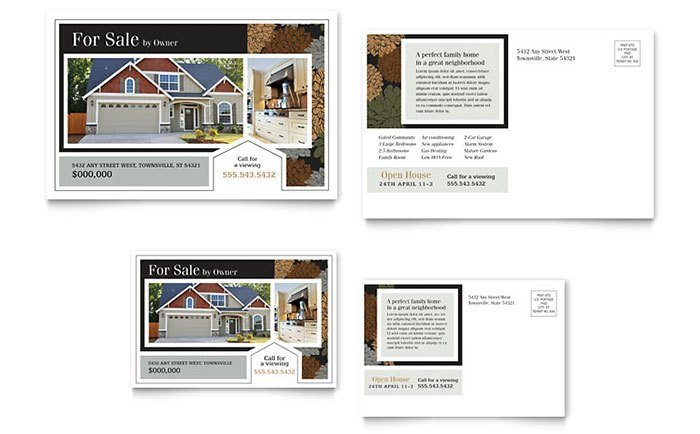 Real Estate Postcard Templates Real Estate Marketing Postcards – Quick & Easy Templates