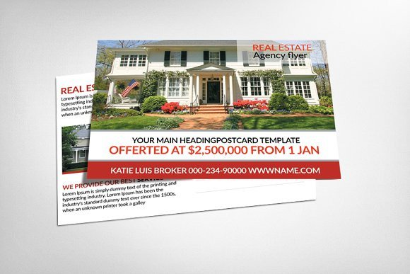 Real Estate Postcard Templates Real Estate Postcard Templates Card Templates On
