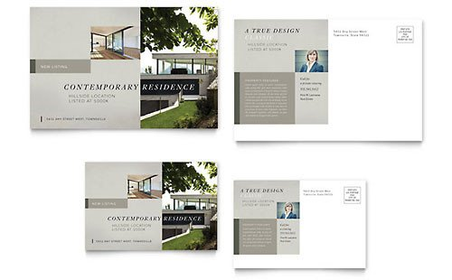Real Estate Postcard Templates Real Estate Postcard Templates Word & Publisher