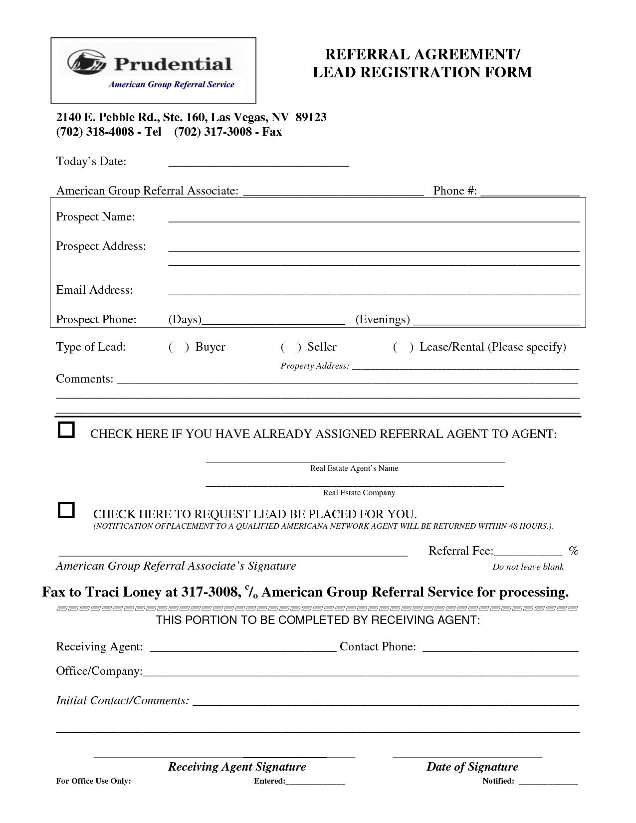 Real Estate Referral form Real Estate Agent Referral Agreement