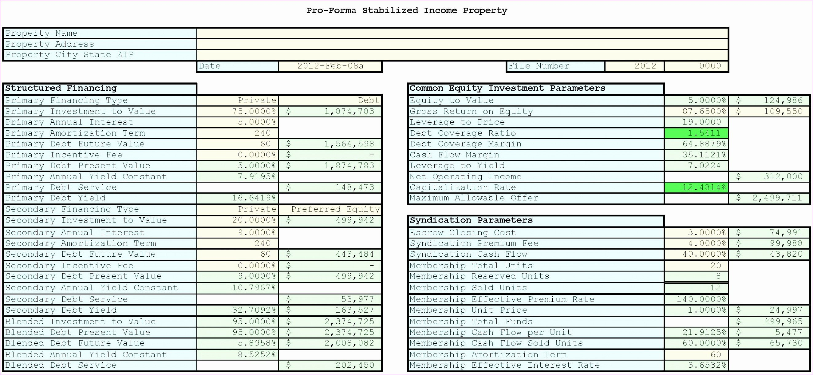 Real Estate Spreadsheet Templates 10 Financial Analysis Excel Templates Exceltemplates