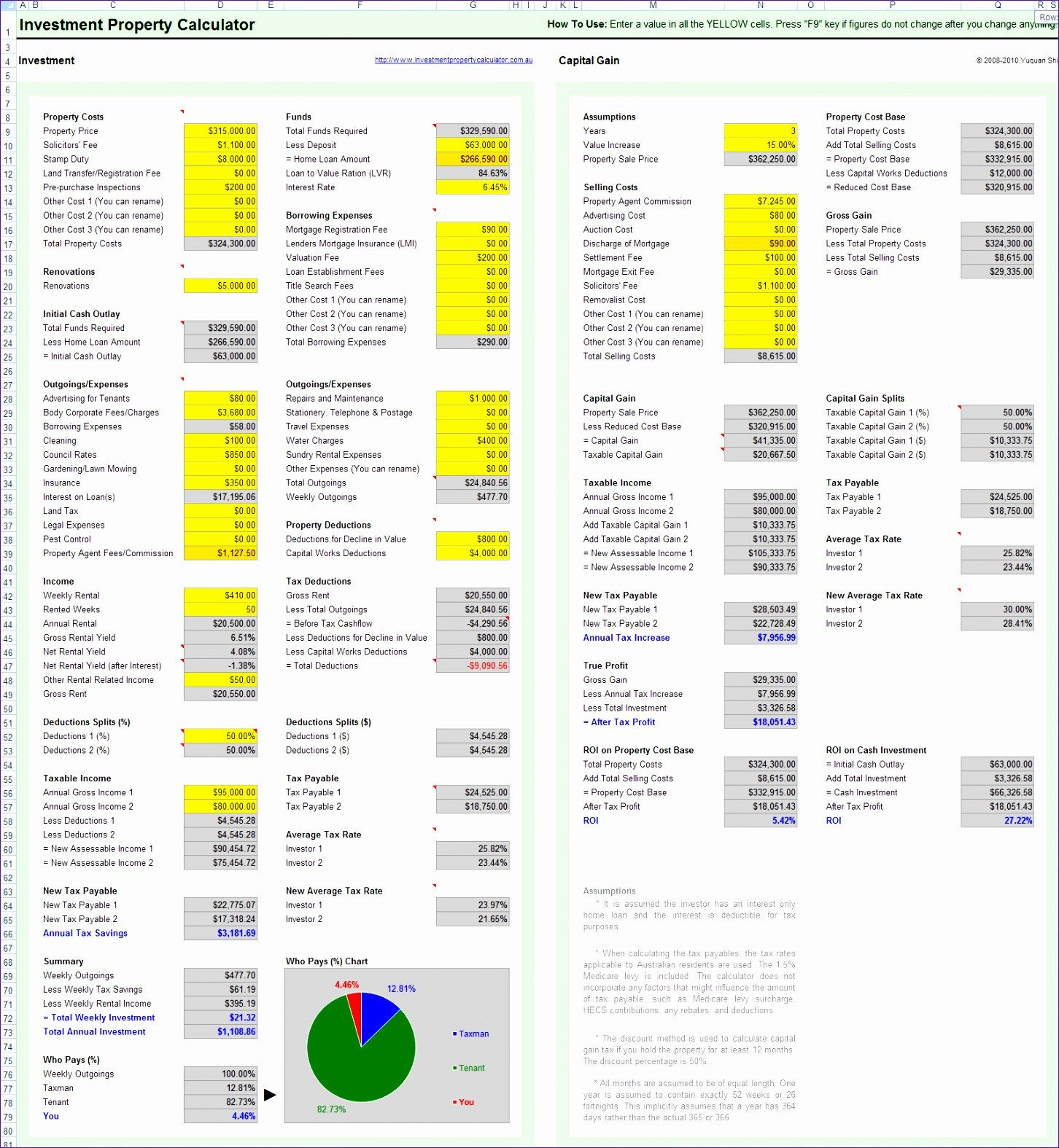Real Estate Spreadsheet Templates 8 Property Management Spreadsheet Template Excel