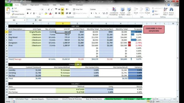 Real Estate Spreadsheet Templates Mercial Real Estate Spreadsheet Spreadsheet Downloa