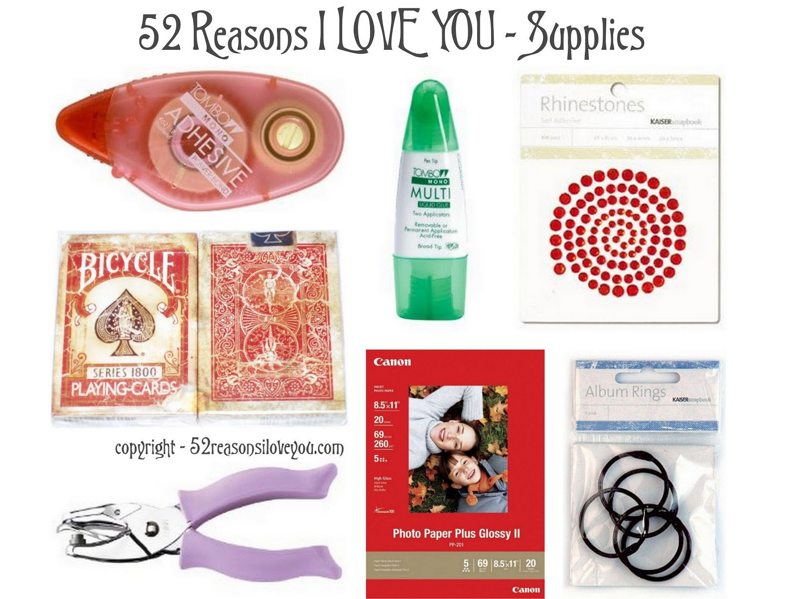 Reasons I Love You Template 52 Reasons why I Love You Template