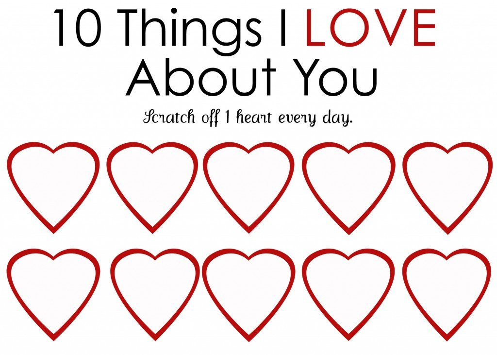 Reasons I Love You Template Diy Valentine's Day Gifts Scratch Off Cards