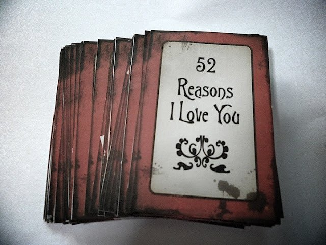 Reasons I Love You Template the Epitome Of My Life 52 Reasons I Love You