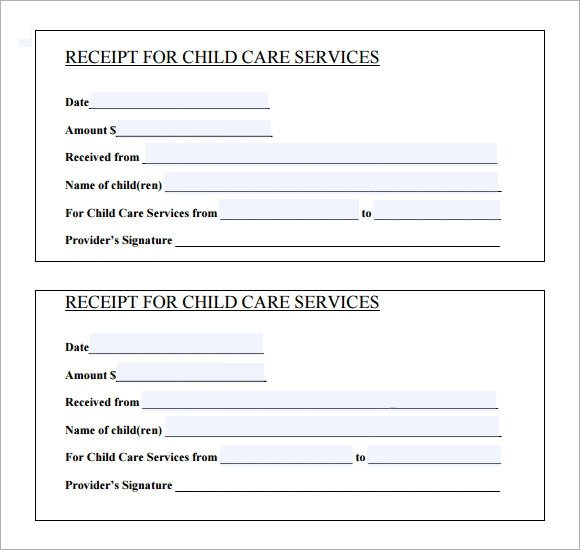 Receipt for Services Template 10 Printable Receipt Templates – Free Samples Examples