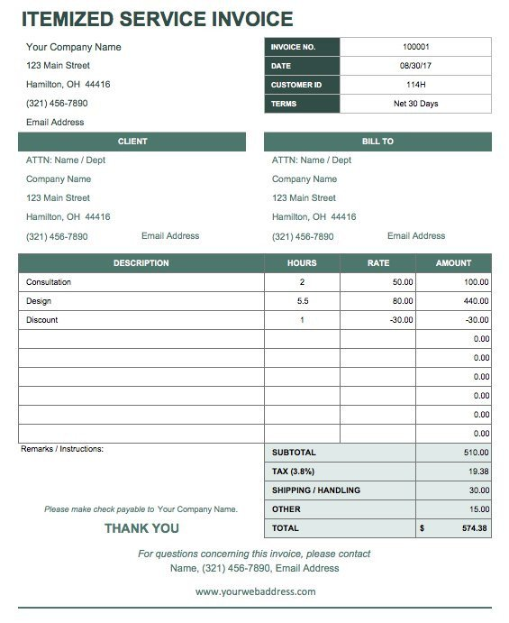 Receipt for Services Template 13 Free Business Receipt Templates Smartsheet