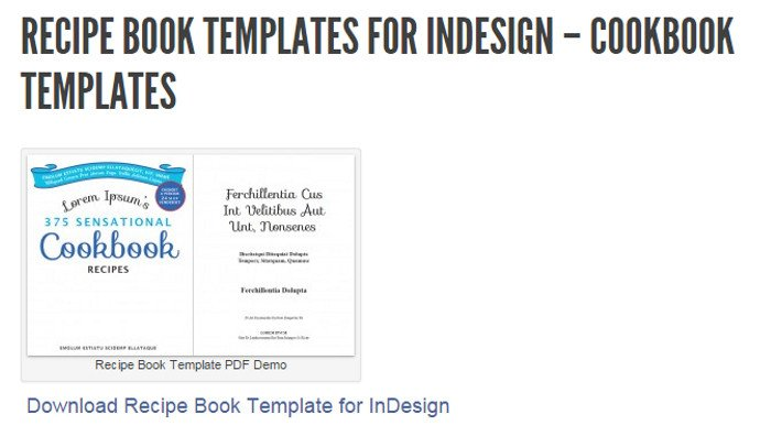Recipe Book Template Word 5 Indesign Cookbook Template