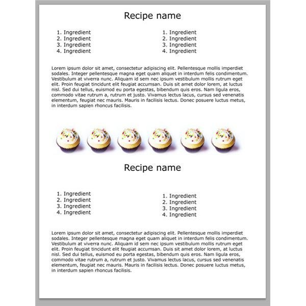 Recipe Book Template Word 5 Yummy Shop Cookbook Templates Free Downloads for