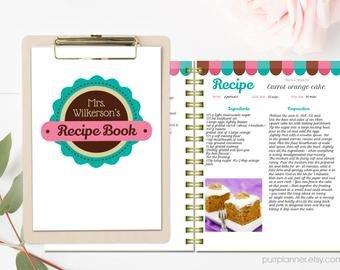 Recipe Book Template Word Book Cover Template