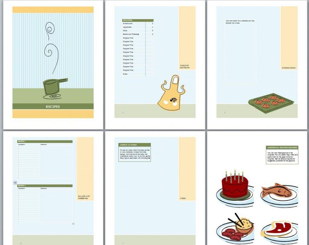 Recipe Book Template Word Cookbook Template